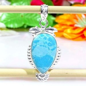 "Jewelry - Carribean Larimar Gemstone Pendant 2"""